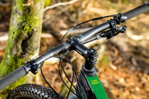 Steep steering angles are perfect for technical climbs