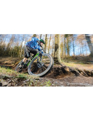 …but the Niner's skittish characteristics mean that descents can be a hair-raising experience