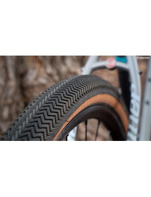 The Specialized Sawtooth tires are durable, fast-rolling and have much more traction than you would expect