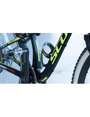 Topeak is an accessory expert and doesn't offer much for use on the bike. The exception may be bottle cages, with Schurter choosing the brand's Shuffle carbon
