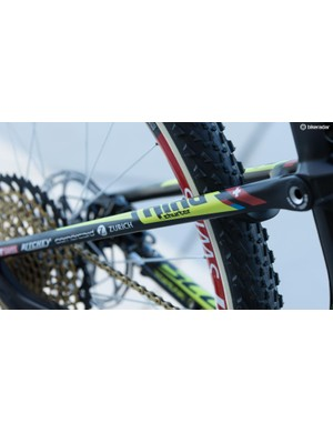 You'll find similar logos on products sold by Scott. For example, you can buy a 20in kids bike plastered with the same labels, including Nino's name
