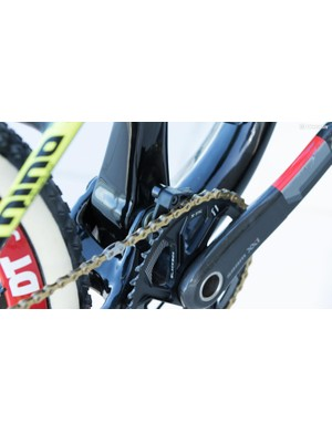 Dropped chains are rare, but riders at this level rarely take chances. This simple guide stops the chain from lifting off the ring and adds little weight