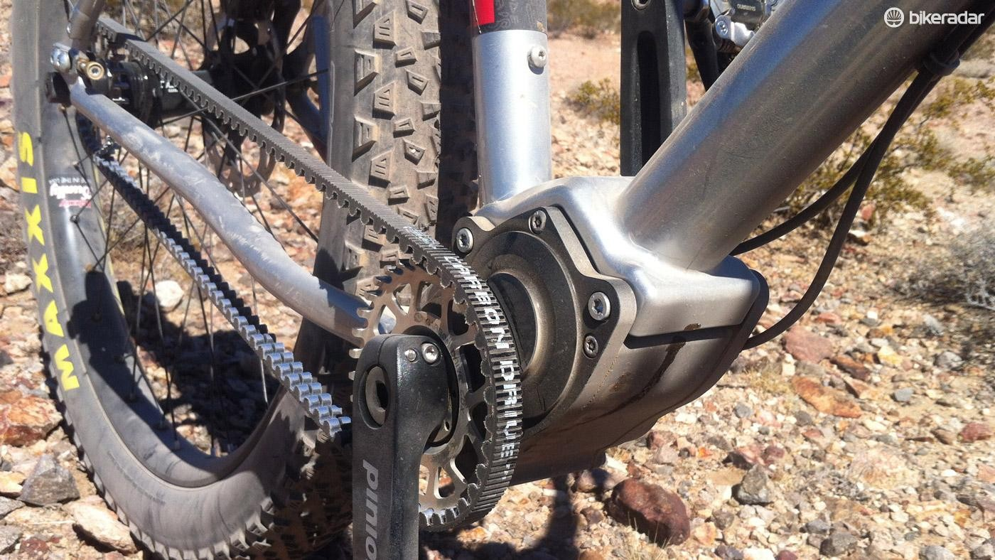 No longer just for single speeds, the Pinion gear box opens up gearing for belt drive fans