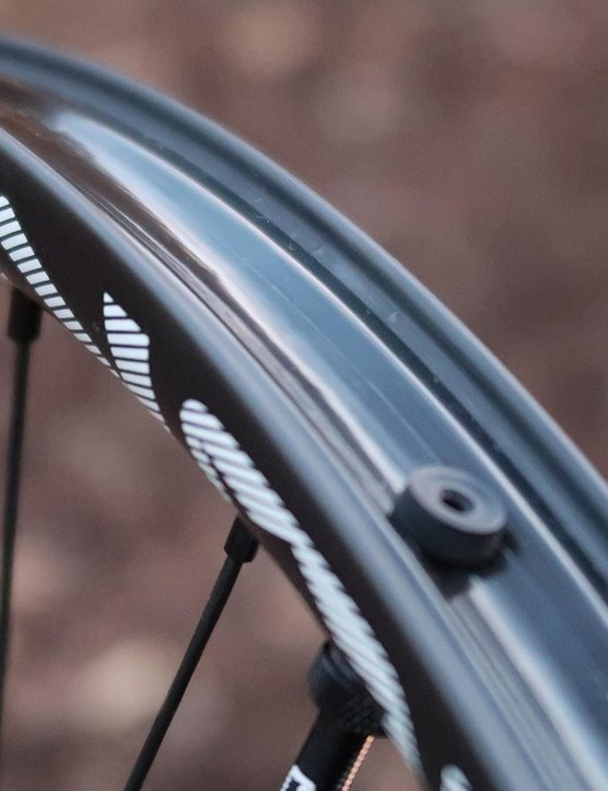 NOBL's carbon rims have a hookless profile and come ready to roll tubeless