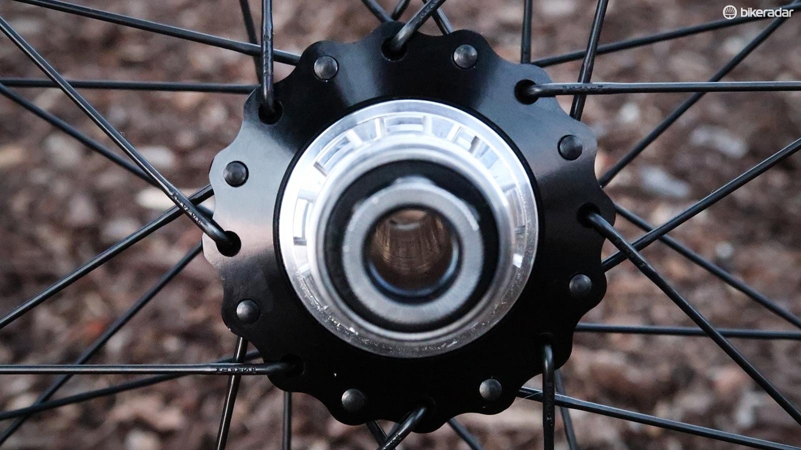 Onyx hubs use a sprag clutch system for instant engagement