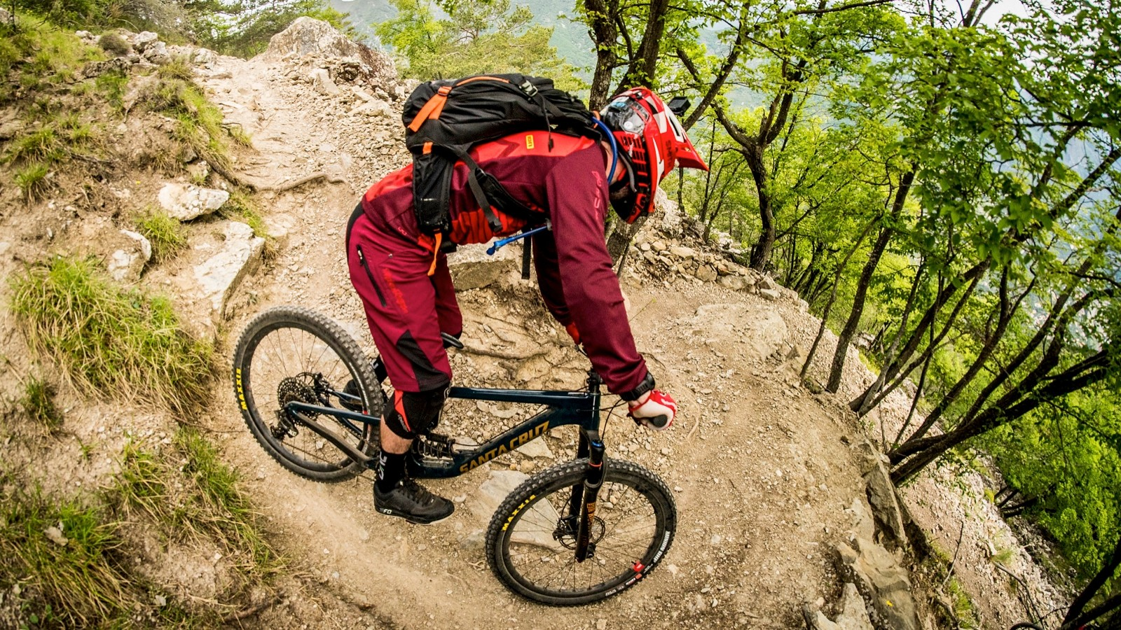 Rocky, steep and rough. The Maritime Alps offer some seriously good terrain to really get to grips with a bike like the Nomad