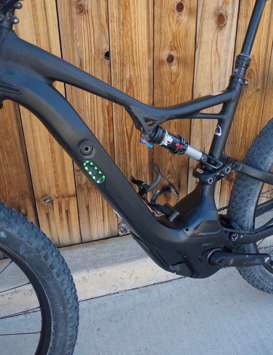 Only the green LEDs and large bottom bracket area give away the electric assist