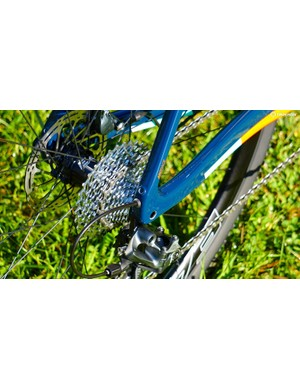 The chainstays have eyelets for fenders, with other frame mounting points throughout the rear of the bike
