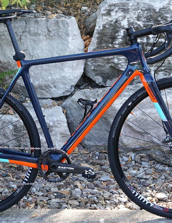 Although marginally heavier than the Specialized Crux Norco's Threshold handles just as well