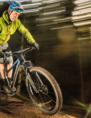 Plus-size tyres on wider rims let you run lower pressures for a smoother, grippier ride. But the Norco's WTB Rangers are budget versions that feel more wooden than most