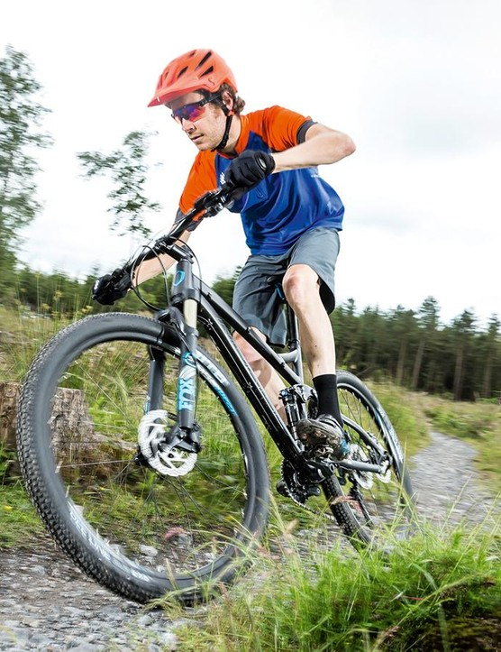We'd recommend a grippier front tyre