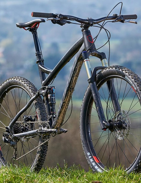 SRAM's single-ring NX transmission is a fantastic way to power a trail bike, especially in this hard-wearing steel chainring spec
