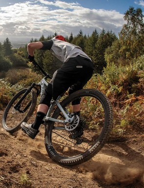 That steep seat angle positions you just right for sinking your power into technical climbs