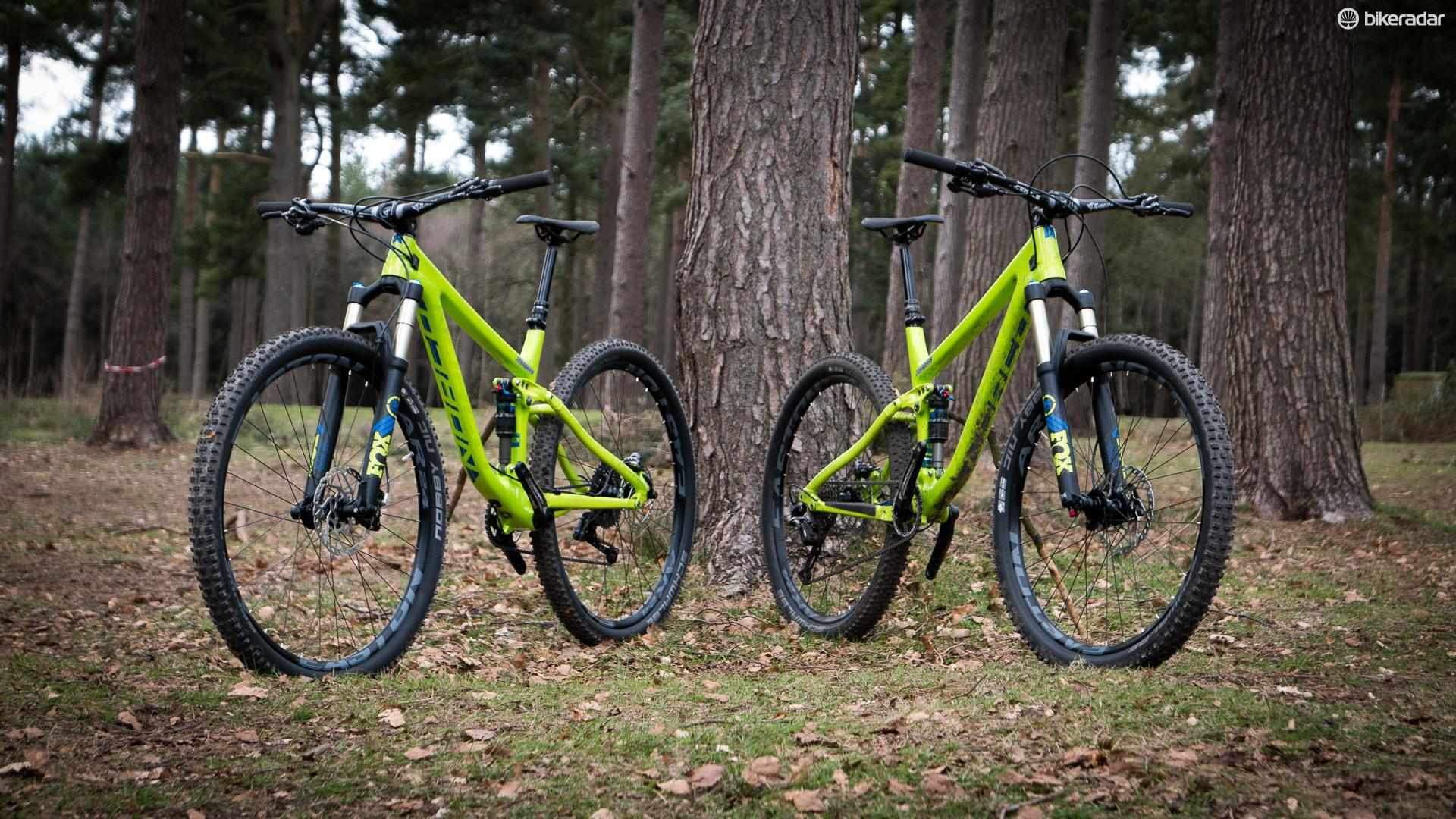 This isn't two bikes you're looking at – it's one, but with two different wheel sizes