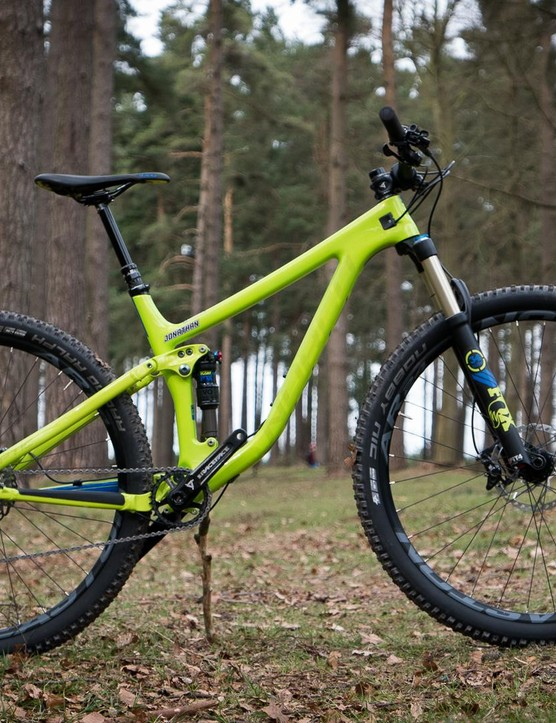 Spot the difference? The 29er Optic has slightly less travel at a 120/110mm front/rear split, but Norco say the big wheels help make up for that