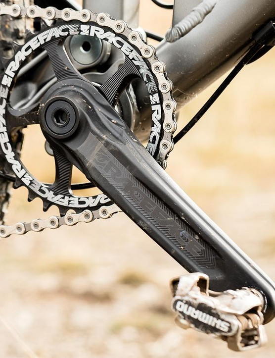 The 32t RaceFace Affect crank has a direct mount system so you can go as low as you want
