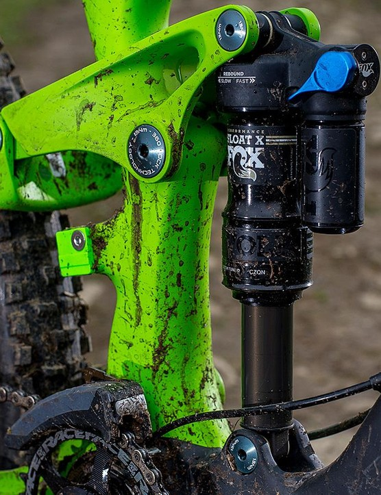 The Performance-series Fox shock is less polished than the RockShox dampers fitted to some of the Range 7.2's peers