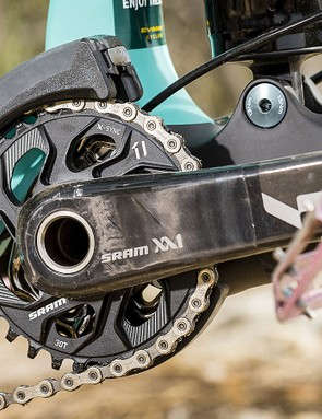 The XX1 carbon crankset with direct-mount 30t ring is a nice upgrade