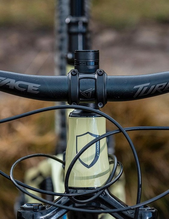 The wide RaceFace bar gives plenty of control