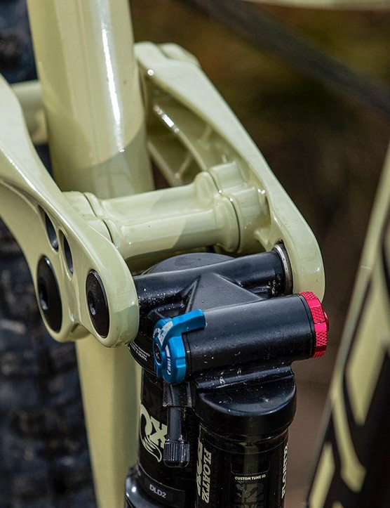 The rocker might not be the tidiest, but it's an integral part of the Norco's composed rear suspension