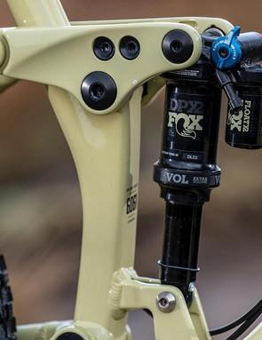 Fox's piggy-back DPX2 shock remains consistent on long runs