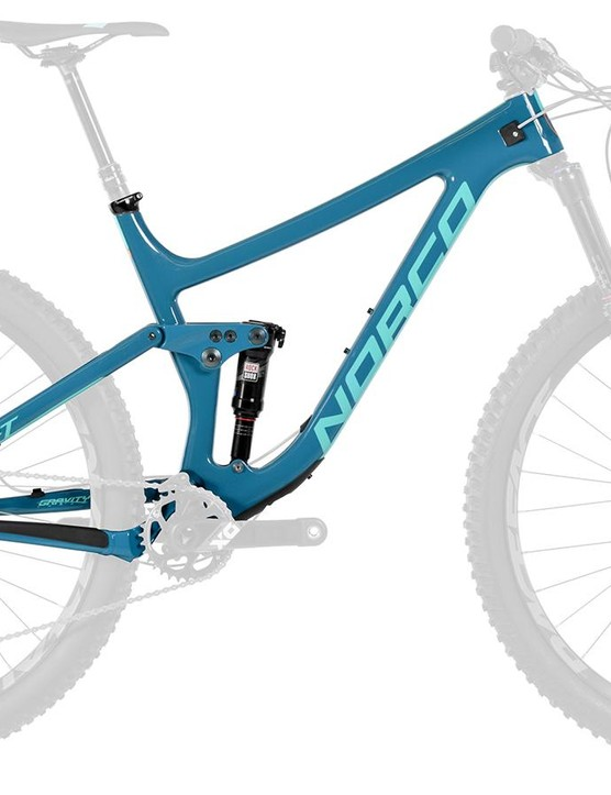 The Sight frame is offered with a RockShox Deluxe RT3 DebonAir shock