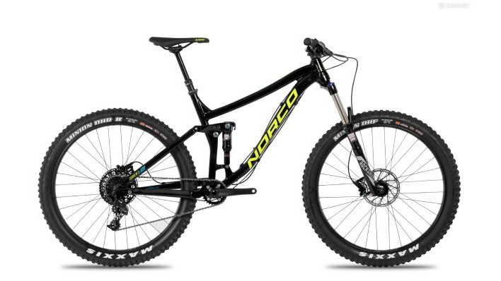 The second-tier Torrent FS+ A7.2 has a 140mm Rockshox Sektor RL fork and Rockshox Deluxe RT Debonair shock with a SRAM NX drivetrain