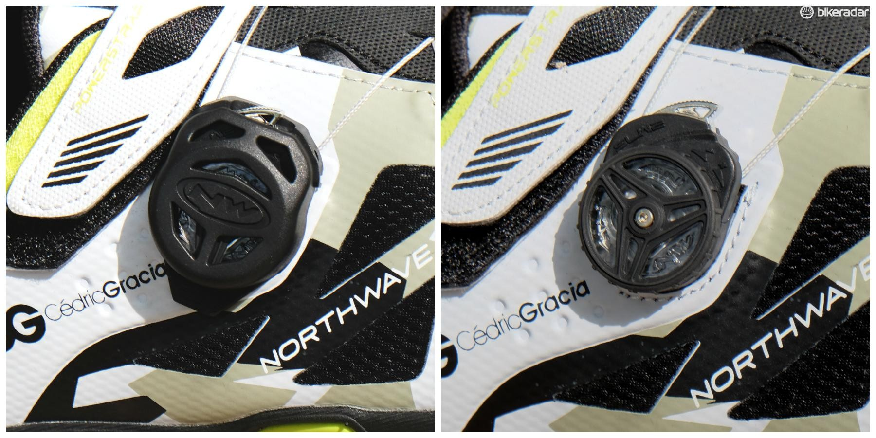 Northwave uses its own cable-tensioning system, rather than a Boa. There's also a cover to keep debris out of the reel