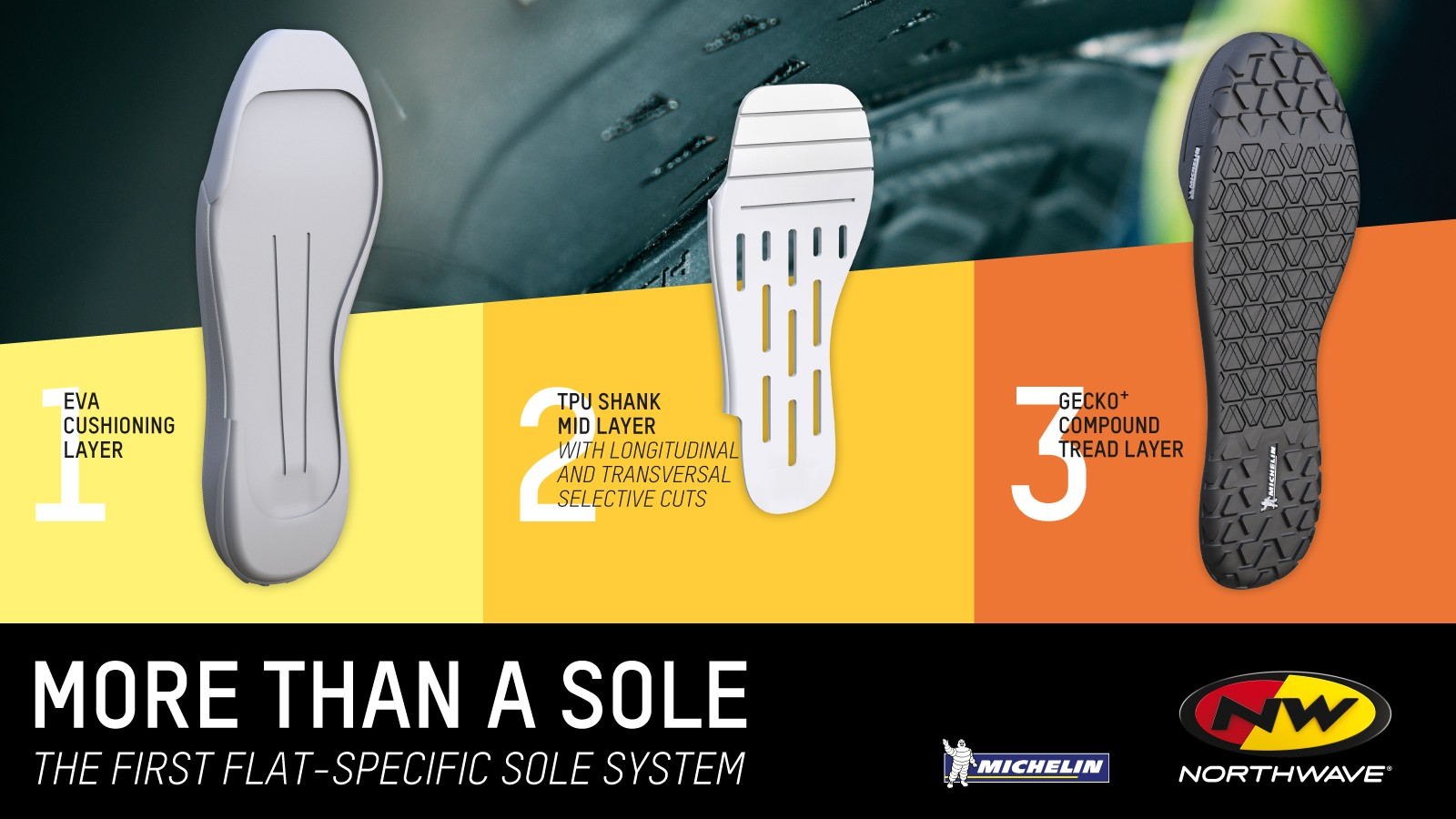 Northwave's introduction of its innovative flat-specific sole system