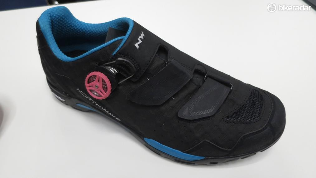 The Outcross Plus is Northwave's new go-anywhere mountain shoe that it claims provides the stiffness of a XC shoe with the comfort and traction of an outdoor trail shoe