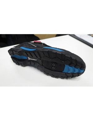 The multi-density outsole is by Michelin and built upon a super stiff base with soft compliant and grippy tread patterning bonded to it