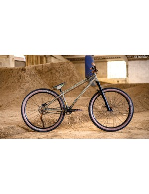 Dirt jump bikes will generally use smaller wheels and a compact frame for optimum manouevrability