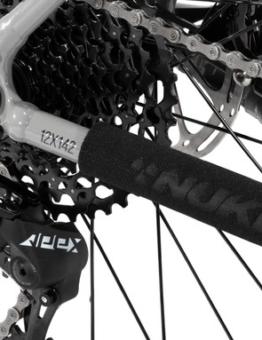 The 11-speed drivetrain gives you plenty of gears to grind up hills and speed down dale