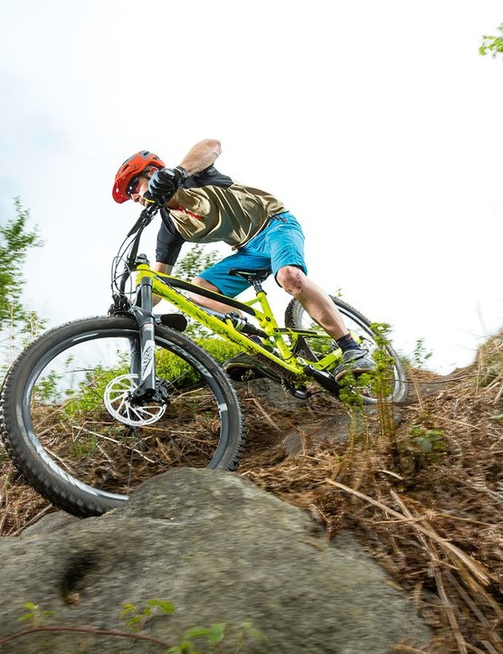 The retooled Nukeproof truly catches fire on the descents –add a few spacers to the shock and you have a ridiculously capable bike on your hands
