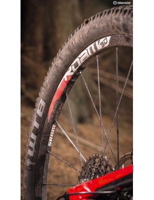 The WTB tyre pairing is tough and well matched