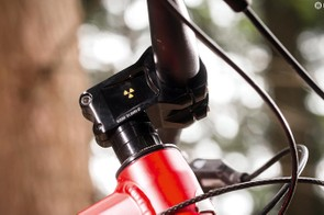 We suggest fitting a shorter stem/wider bar to unlock that slack front end's potential
