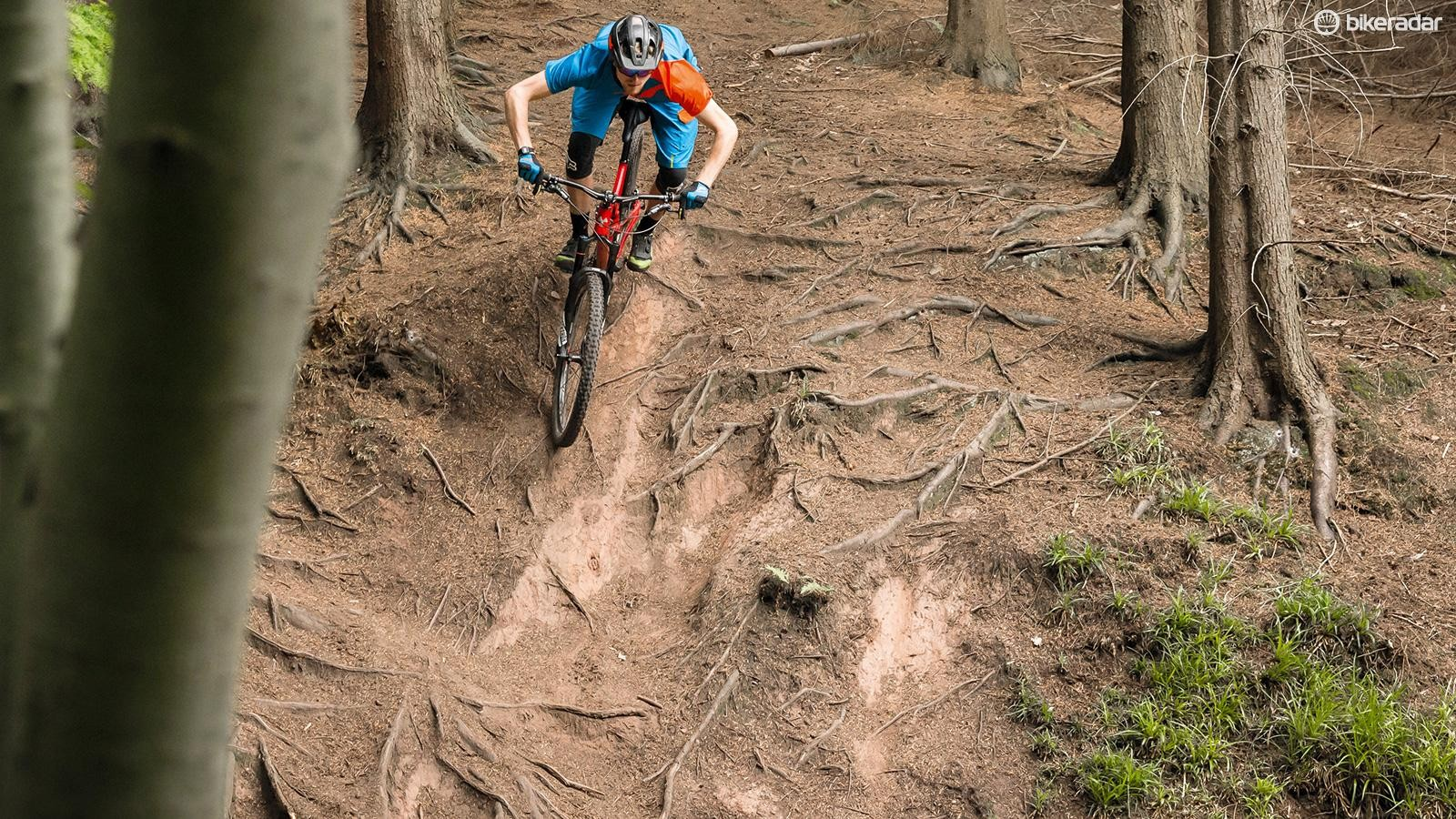 The Mega 290 Comp's big wheels and superb geometry make it remarkably capable for the price