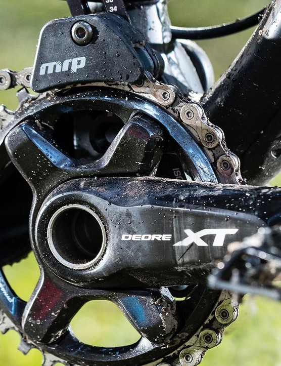 An MRP guide keeps the chain on the 32t ring. Less fit riders may want something smaller