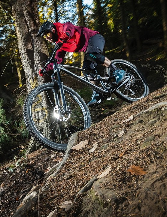 The 29er Mega combines big wheels with 150mm of rock-munching travel