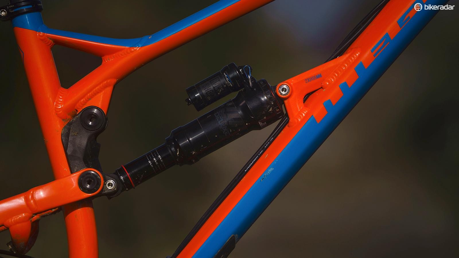 One of those all-important tweaks including redesigning the back end of the bike to work with a metric shock. In this case, the Pro gets the proven RockShox Super Deluxe RCT shock