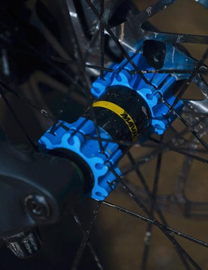 Though the Mavic wheels used on the Pro are light and quick to get up to speed, they can feel flexy when pushed really hard