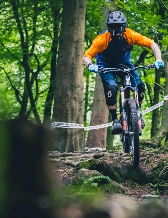 Rob threw the Mega 275 Factory into some seriously rooty terrain where it handled everything with ease