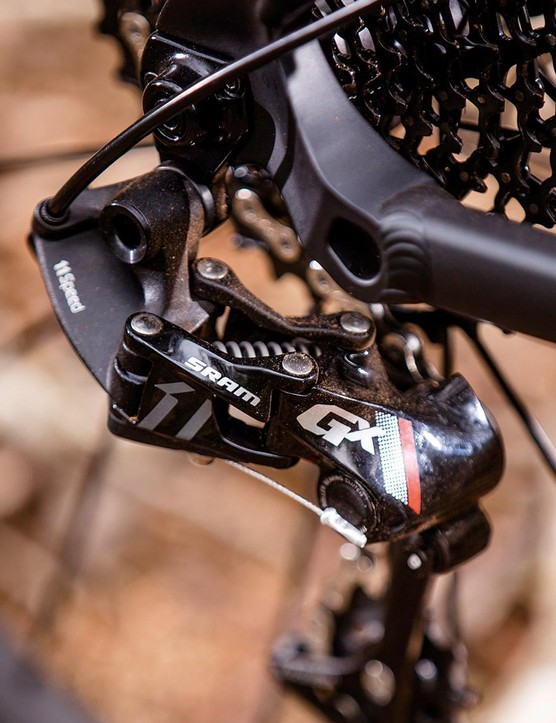 The SRAM GX 1x11 transmission is a quality spec choice