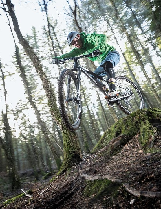On rocky, rough, rooty terrain you feel everything under your wheels