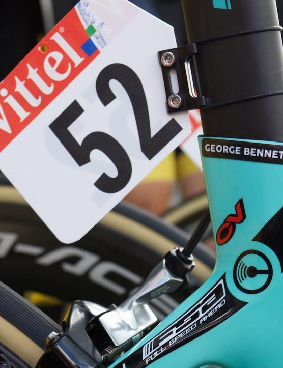 Aero seatposts are great for aerodynamics, but a little tricky for number holders