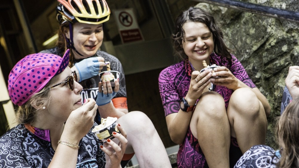 Mid-ride ice cream may not strictly be sports-specific nutrition, but you've got to live a little!