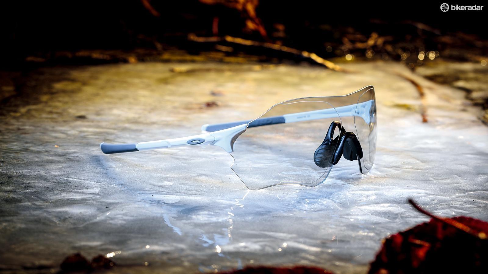 Oakley's frameless EVZero Range Photochromic cycling glasses