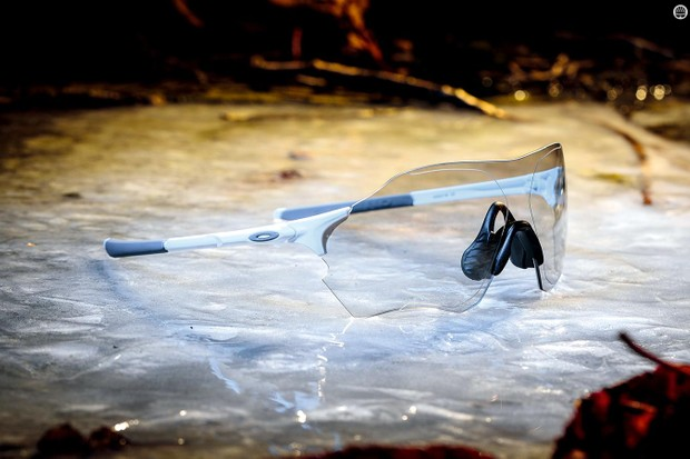 Oakley's frameless EVZero Range Photochromic cycling glasses
