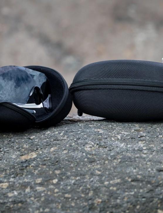 The EVZero's come with a hard case, microfiber bag and a spare nose piece