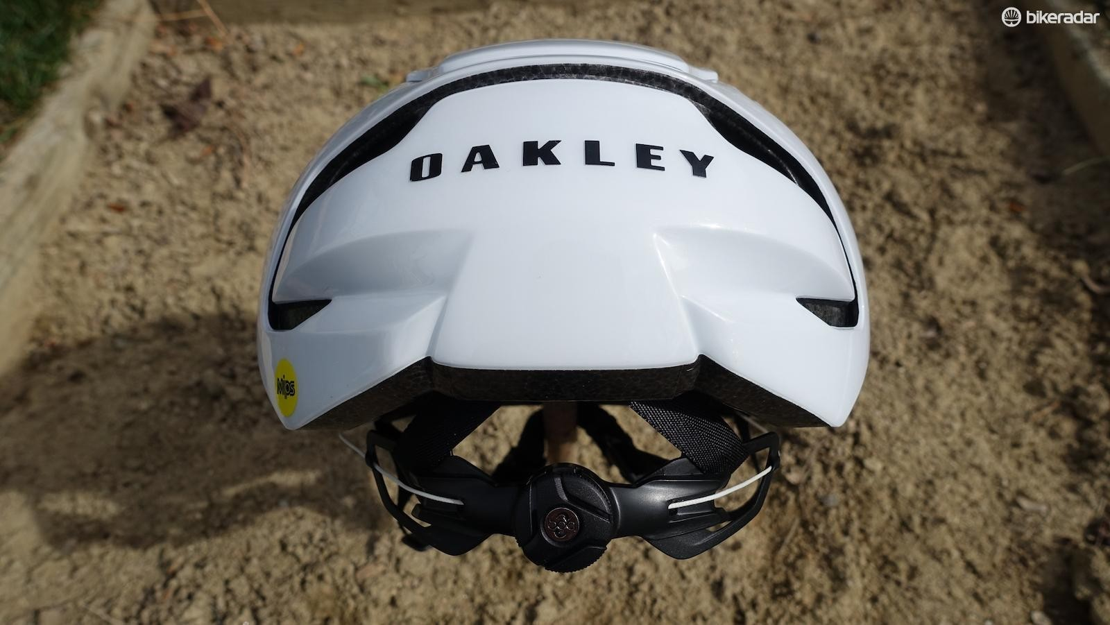 Unlike the front of the helmet, the rear is very closed off